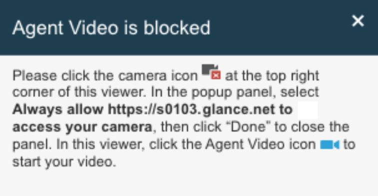 The video display notification.